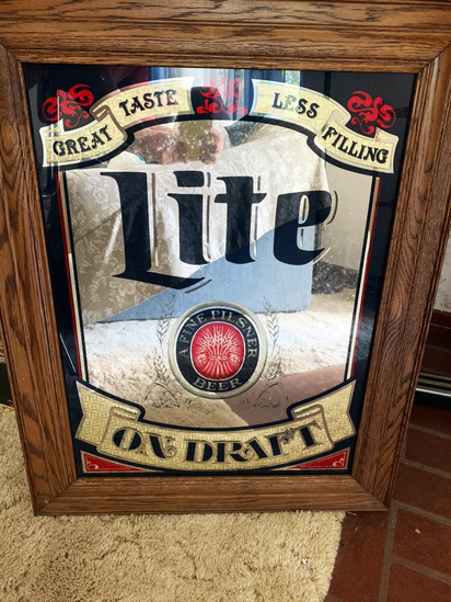 "Miller Light Beer Sign 30""L x 24""H"