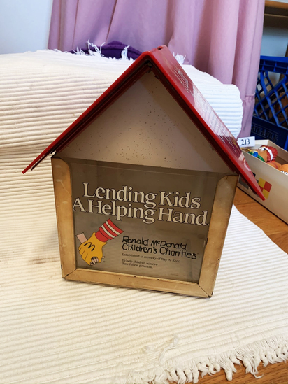 "Ronald McDonald Charity Collection Box 12""Tall"