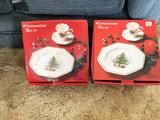 2 Nikko Christmas 12 piece Christmas China sets