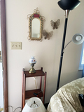 3 Lamps, Mirror, 3 Tiered Shelf, and Décor items