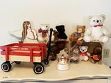 Radio Flyer Wagon, Boyds Bears, Snow Globe, Toys