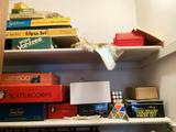 Contents of Closet - assortment of vintage games