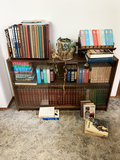 Books, Book Shelf, Weather Station and Framed needle point