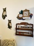 Vintage Owl Group plus other decor