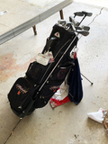 Set of 4 MX4 Majek clubs and Rattlesnake Drivers, golf bag and contents