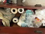 Contents of sewing Items in Red Dresser (does not include dresser)
