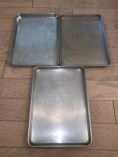 3 baking sheets