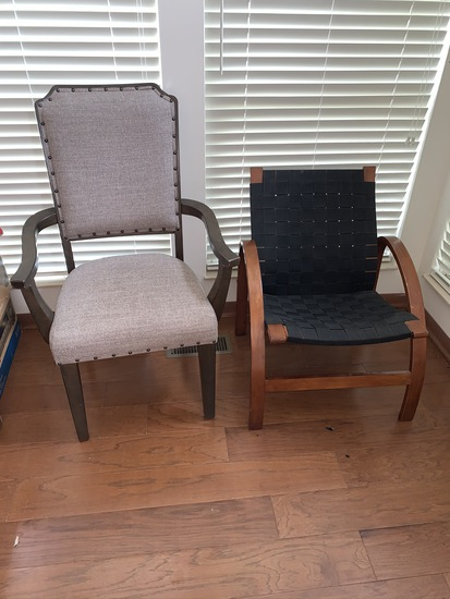 Dining room arm chair and mid century style chair