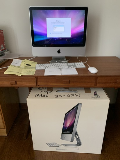 Apple Imac 20 inch computer with keyboard and mouse