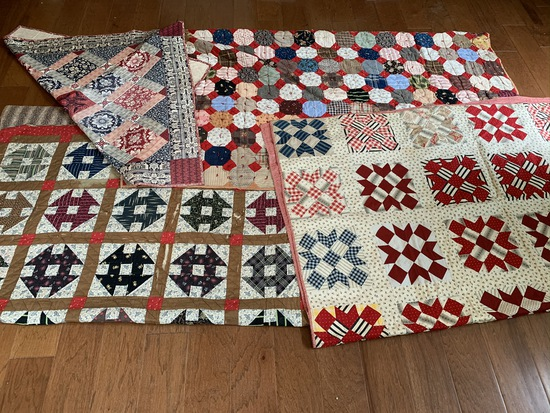 4 Vintage Patch Quilts