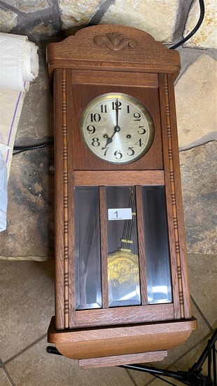 Antique Oak Cased Clock with Chime