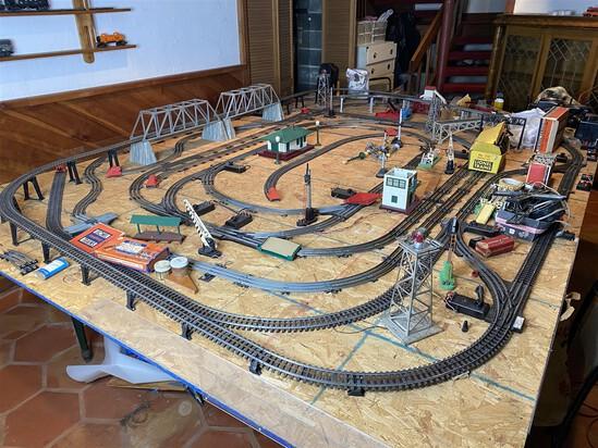 All track, scenery, accessories etc on board