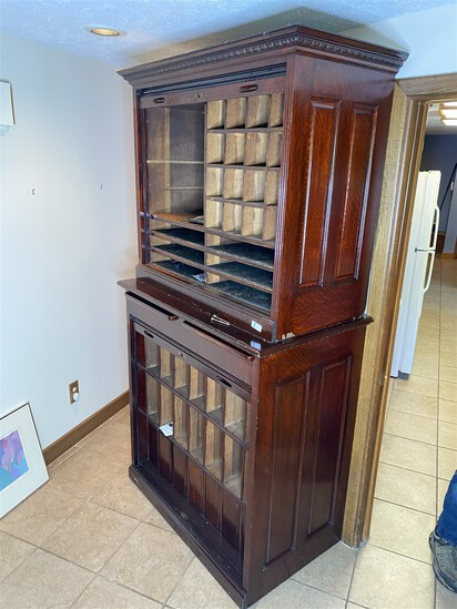 Large and unusual doctor's or Dentist's office cabinet