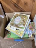 Box lot Children's books plus Peter Rabbit plate