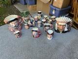 Large lot Royal Doulton Mugs - Inc. Native American