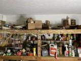 Garage shelves contents lot