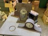 Group lot of old clocks for repair