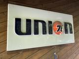 Vintage Plastic Union 76 Gas Station Sign