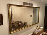 Unusual huge 7' x 4' antique mirror