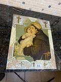 Antique glass religious image