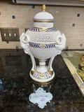 Antique Made in Hungary Porcelain Lidded Vase