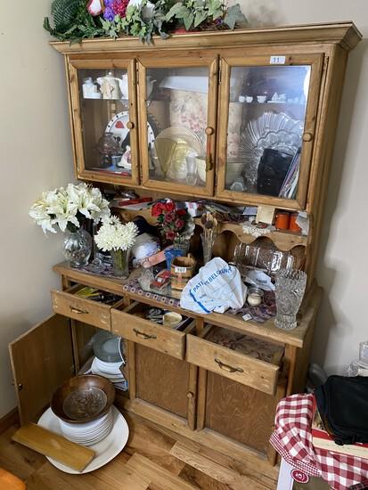 Vintage Wooden Flat Wall Cupboard