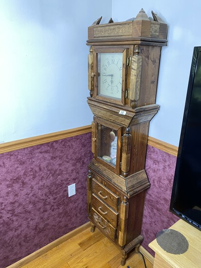 Unusual Vintage Grandfather Style Clock