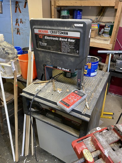 "Sears/Craftsman 12"" Electronic Band Saw w/Tilt Head"