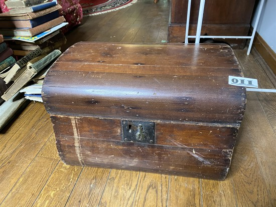 Antique Wooden Trunk or Box with Early lock