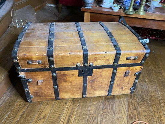Antique Wooden Box or Trunk