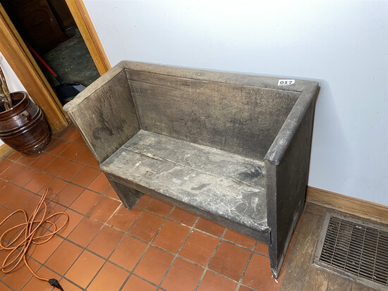 Early Antique Primitive Bench