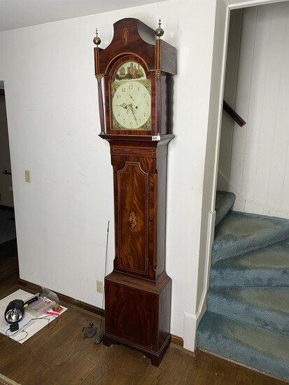 Antique English Tall Case Grandfather Clock