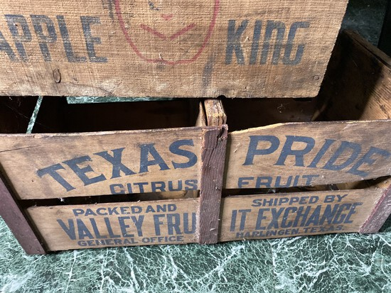 2 Nice Antique Decorative wooden fruit crates