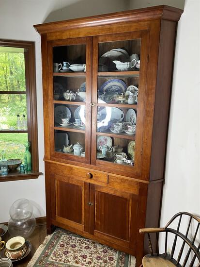 Large c. 1850 Large Corner Cabinet