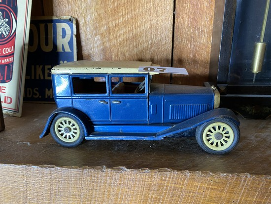 Antique Metal toy friction Car