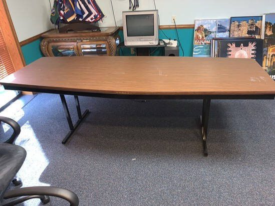 Barricks Folding Conference Table 8' x 3'