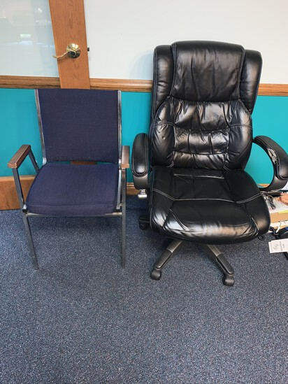 Lane Leather Office Chair (does have damage, please see pictures
