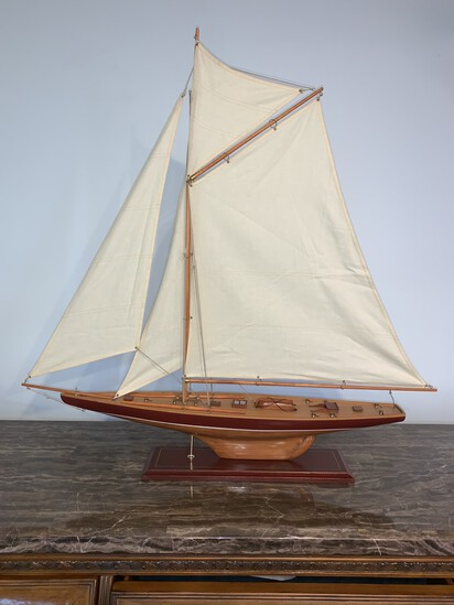 "Wooden Sailing Ship Model 34"" W x 35"" H"