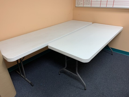(1) 8ft Lifetime Table and (1) 6ft Lifetime Table