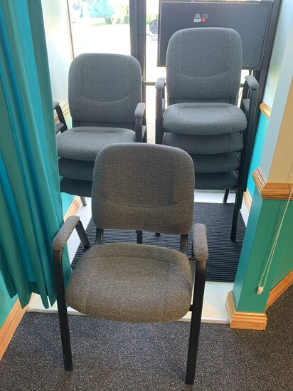 8 FDL Stackable Officer Chairs  Model 146-394  GREAT CONDITION!