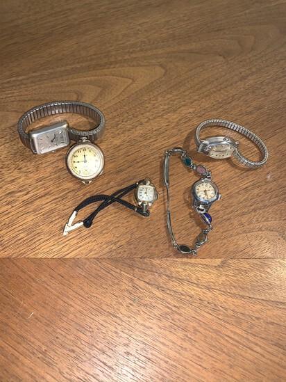 Wadsworth Pocket Watch, 3 Bulova, Timex Watches