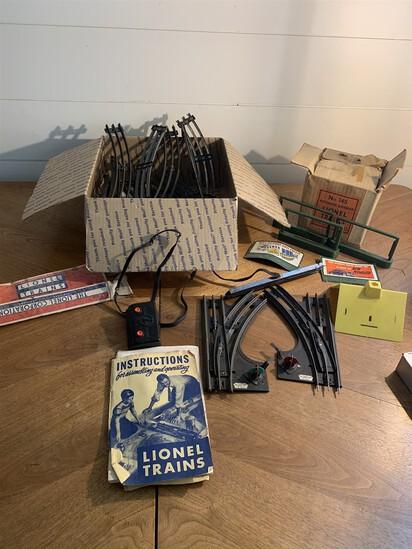 Assortment of model railroad items