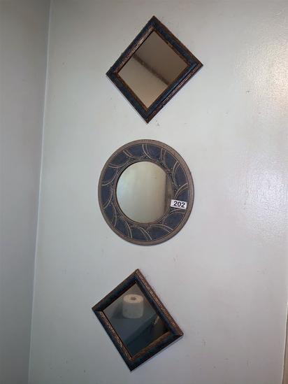 3 Ceramic Mirrors