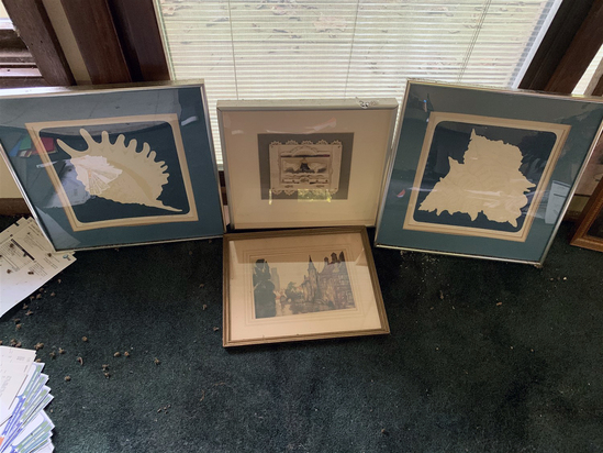 "(4) Frames -"" Sun King""  by Hunter  Dated 4/16/1994   15"" x 13 1/2"""