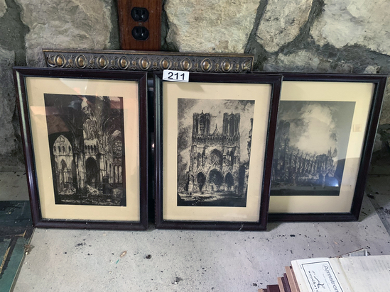 (7) Framed Prints . 3 are etchings