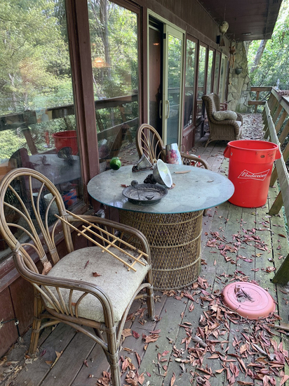 Cleaning Rights of Back Deck