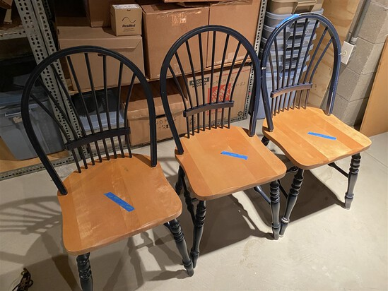 Group of 3 vintage chairs