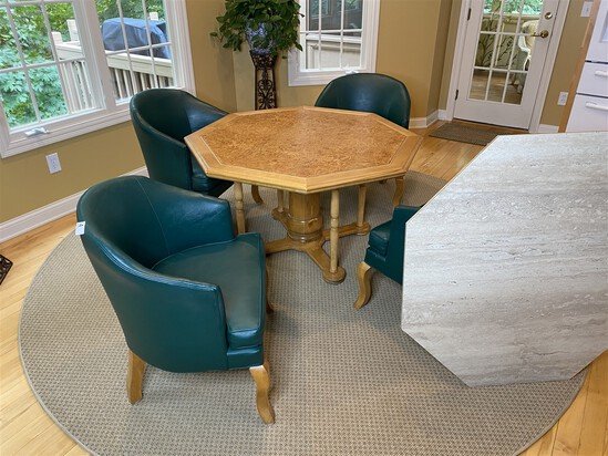 Unusual convertible table by custom maker Stanley Briggs + Chairs