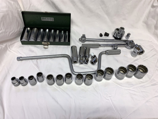 Large Group of SK Tools Sockets and related