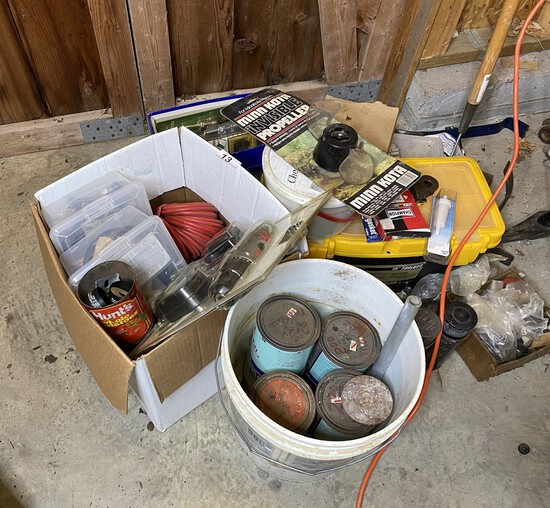 Assortment of tools and more